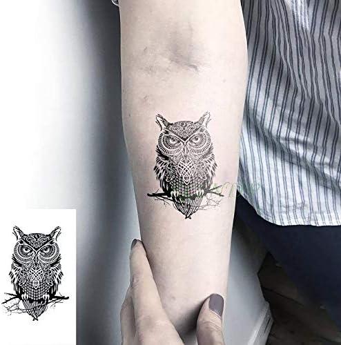 tzxdbh Etiqueta engomada del Tatuaje a Prueba de Agua búho Tatto ...