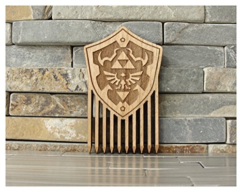 Legend of Zelda Hylian Shield Wood Comb