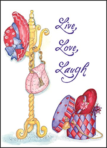 Red Hat Ladies Society Blank Note Cards 10 ct Package w/Envelopes Live Love Laugh Made in USA