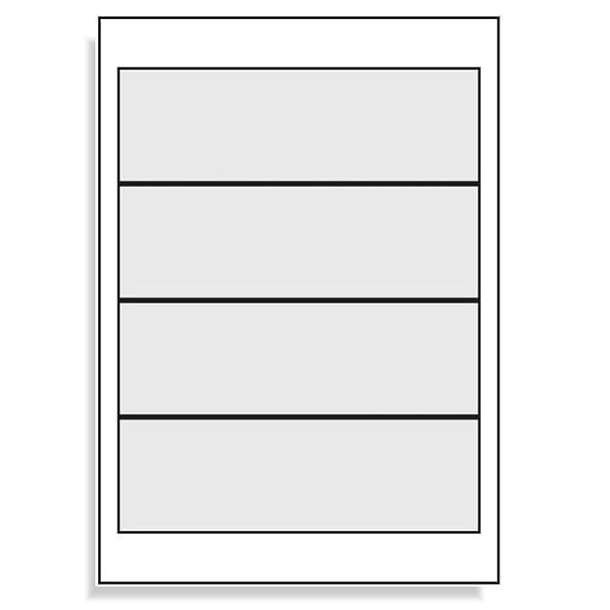 Universal - Etiquetas para archivadores anchos (190 x 61 mm 400 etiquetas adhesivas para espalda Blanco imprimibles - 100 DIN A4 arco 1 x 4: Amazon.es: ...