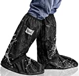 Aobrill Waterproof Shoes Covers, Foldable Reusable Snow Rain Boot for Women Men