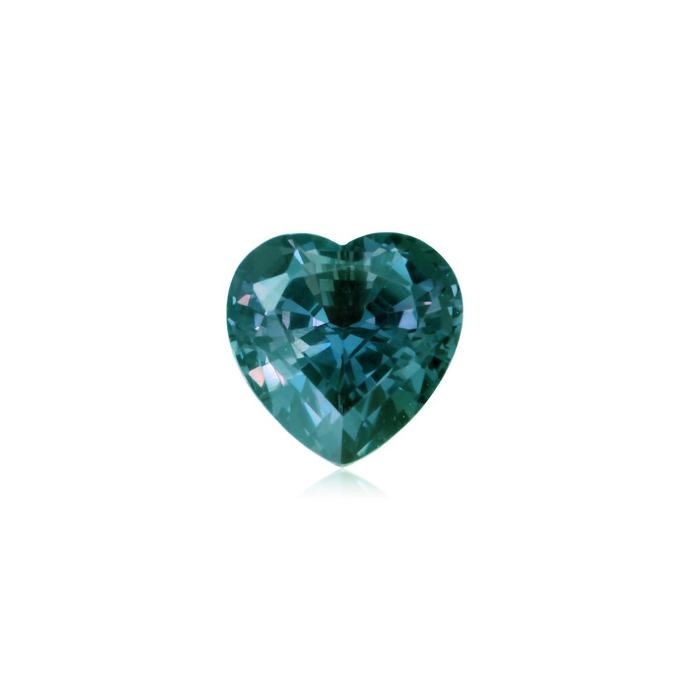 1.48-1.60 Cts of 7 mm AAA Heart Lab created Russian alexandrite ( 1 pc ) Loose Gemstone