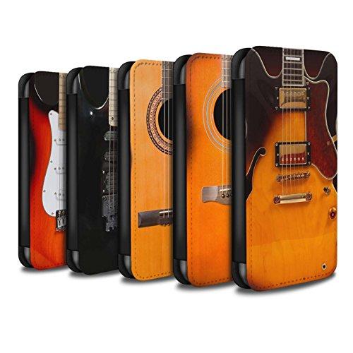 Stuff4 Coque/Etui/Housse Cuir PU Case/Cover pour Apple iPhone X/10 / Multipack (6 Designs) Design / Guitare Collection