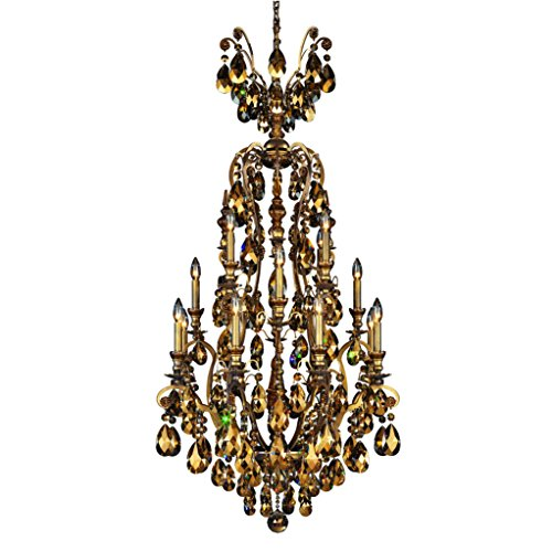 Schonbek 3782-76TK Swarovski Lighting Renaissance Chandelier, Heirloom Bronze - Renaissance Sixteen Light Chandelier