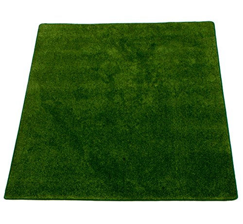 Learning Carpets Solid Green - Learning Carpets CPR560 - Solid Military Green (Rectangular)