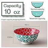 DOWAN Porcelain Small Bowls, 10 Fluid Ounces