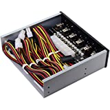 Cablecc 6 Hard Disk Control System Intelligent Control Management System HDD SSD Power Switch with 5.25 CD-ROM Bay