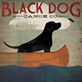 Black Dog Canoe - Poster by Ryan Fowler (12 x 12)