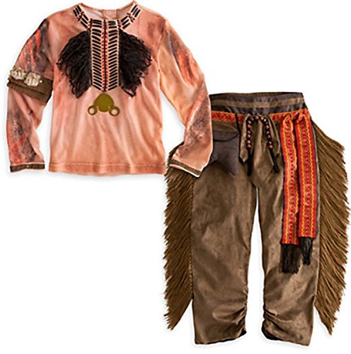 Disney Tonto Costume (Disney Store Tonto Costume for Boys size XS 4 The Long Ranger Indian)