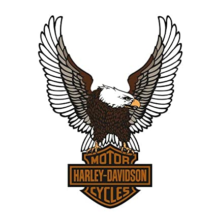 amazon com harley davidson eagle logo fathead wall accent decals