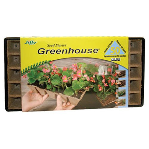 033349410292 - Jiffy 5029 Seed Starter Greenhouse 50-Plant With Strips carousel main 0