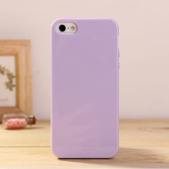 huge selection of 6c516 60749 Amazon.com: iPhone 5 & 5S Jelly Case, ANLEY Candy Fusion Series ...