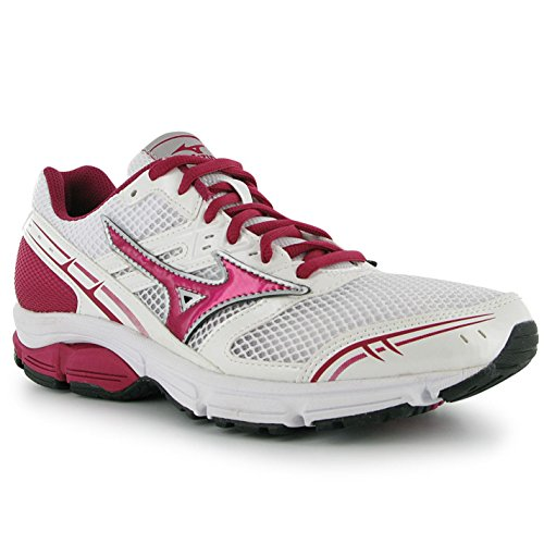 MIZUNO women running shoes Wave Impetus white/red/white Various Sizes (39)