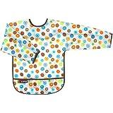 Kushies B274-41 Waterproof Bib with Sleeves, White Circle, Infant