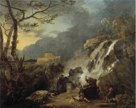 Oil Painting 'Richard Wilson - Meleager And Atalanta,1770', 10 x 13 inch / 25 x 32 cm , on High Definition HD canvas prints is for Gifts And Bath Room, Hallway And Study Room Decoration