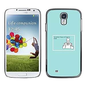 Qstar Arte & diseño plástico duro Fundas Cover Cubre Hard Case Cover para SAMSUNG Galaxy S4 IV / i9500 / i9515 / i9505G / SGH-i337 ( Binge Purge Funny Quote Man Food Sandwich)