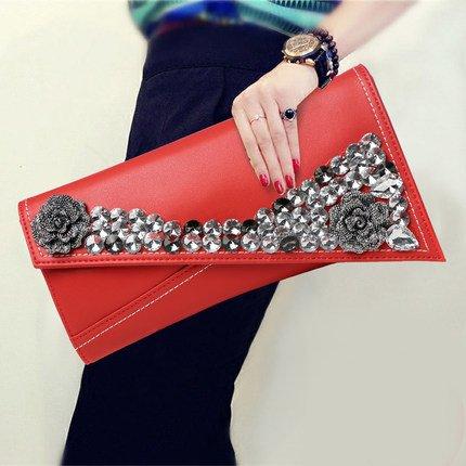 main sac sac en de sac mariée spectacle de cuir véritable Red stade sac diamant soirée étoile Dames cuir souple enveloppe soirée à embrayage personnalisé en xg6XqZnq