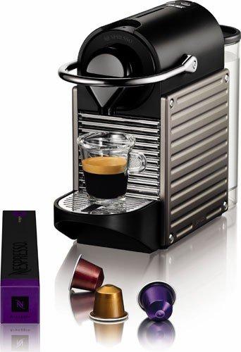 Nespresso Pixie Espresso Maker, Electric Titan (Discontinued Model)