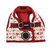 PUPPIA Authentic Dog Story Pet Harness B, Large, Wine, My Pet Supplies