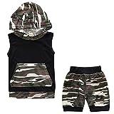 acefast inc toddler - ACEFAST INC Baby Boys 2piece Set Sleeveless Outfits Camo Hoodies Pants Pajama