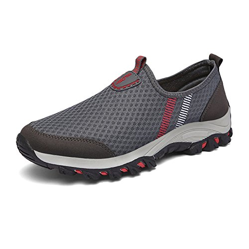 Al Prueba Deportivos Mujeres Señoras A De Transpirable De Zapatos Montañismo Casual para De Zapatos Zapatos Malla Agua Libre Correr Gris Senderismo Caminar Aire wHHqUXpgx4