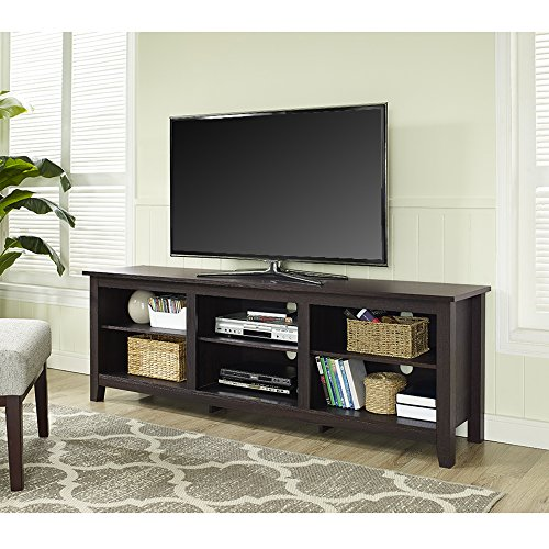 WE Furniture 70' Espresso Wood TV Stand Console