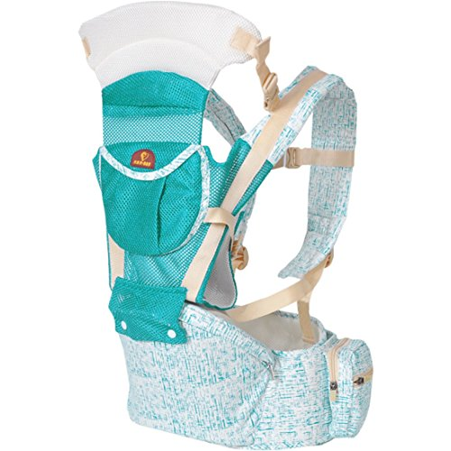 LANOVA Baby Carrier for 3 Months up to 36 Months, perfect child carriers for a parent-Green