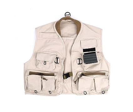 Chaqueta de pesca para niños, chaqueta de chaleco con múltiples bolsillos al aire libre,