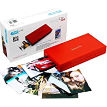 SereneLife - iPhone Photo Printer - Portable Instant Wireless Color Picture Printing for Apple, iPad or Android Mobile Smartphone Camera - Mini Compact Easy Travel Pocket Size - PICKIT21RD (Red)