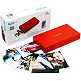 SereneLife Portable Instant Mobile Photo Printer - Wireless Color Picture Printing from Apple iPhone, iPad, Android Smartphone Camera - Mini Compact Pocket Size Easy Travel - SereneLife PICKIT21RD Red