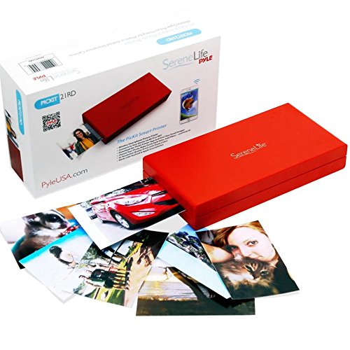 SereneLife - iPhone Photo Printer - Portable Instant Wireles