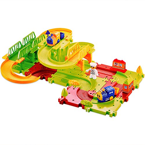 Acefun-Happy-Commander-Train-Playset-Battery-Operated-Intelligence-Train-Track-Series