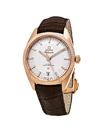 Omega Men's 'Globemaster' Swiss Automatic Gold and Leather Dress Watch, Color:Brown (Model: 13053392102001)