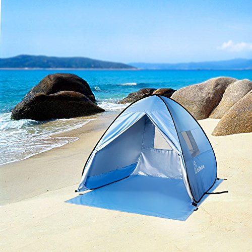 WolfWise Easy Pop Up Beach Tent Instant Sun Shelter Tent by WolfWise