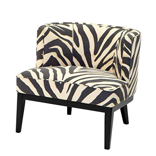 Zebra Print Upholstered Accent Chair