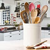 SZUAH Kitchen Ceramic Utensil Holder, Larger