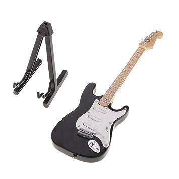 SM SunniMix Modelo de Guitarra Eléctrica de Madera de 1 Pieza en Miniatura para Afinadores de Música Conjunto de Recolección: Amazon.es: Juguetes y juegos