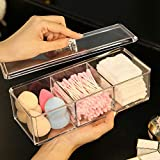Sooyee Clear Double Acrylic Multifunctional Home Decor For Cosmetic Q-tip Cotton Swabs Cotton Bud and Lipstick Holder…