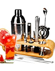 Sishynio 13+Cocktail Shaker Set Bartender Kit, for Beginners and Professionals Alike, from a Bartender with 20 Years of Experience, an Easy Way to Start The Cocktail Journey.