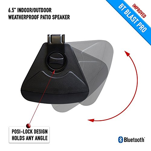 Bluetooth 6.50'' Indoor/Outdoor Weatherproof Patio Speakers, Wireless Outdoor Speakers (Black- pair),by Sound Appeal by Sound Appeal (Image #4)