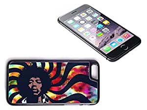 iPhone 6 Plus Black Plastic Hard Case with High Gloss Printed Insert Jimi Hendrix by lolosakes