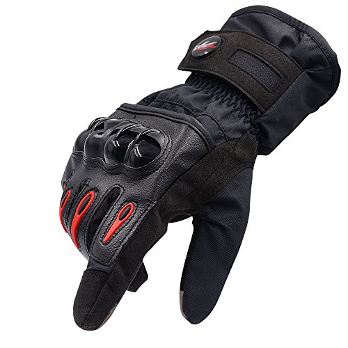 Protective Motorcycle Gloves Powersport Waterproof Full Finger Men Gloves Winter Warm Touch...