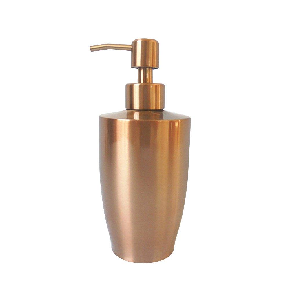 Pueriソープディスペンサー304ステンレススチール石鹸液体ディスペンサーEmulsionボトルHand Washボトルキッチンとバスルーム 400ML ゴールド Pueri-123  ゴールド B076P9C2X4