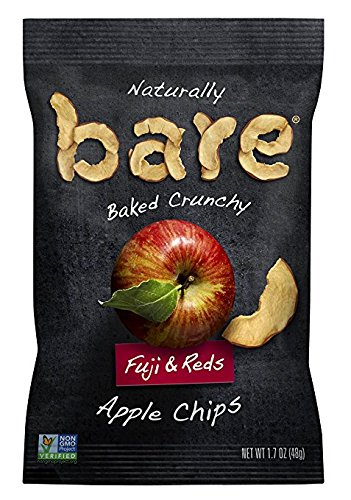 Bare Natural Apple Chips, Variety Pack, Gluten Free + Baked, 0.53 Ounce Bags (24 Count)