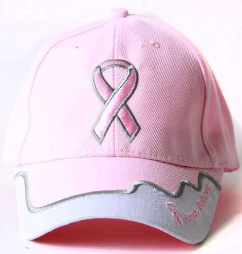 Breast Cancer Awareness Pink Ribbon Logo Hat - Hope, Believe