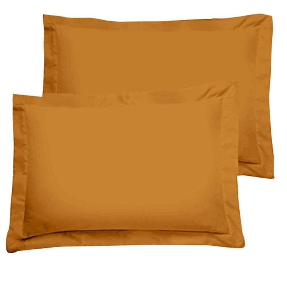 CLASSIC HOME COLLECTION Blockbuster Sale on Amazon 550 Thread Count KING SIZE PILLOW SHAMS LUXURY SOFT EGYPTIAN COTTON 2-PCs Pillow Shams for KING Size (20 x 40) (Solid, Gold)