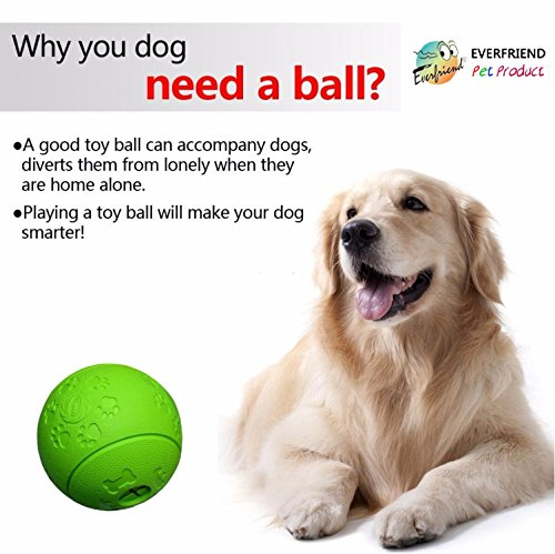 EVERFRIEND-Interactive-Soft-Rubber-Toy-Ball-For-Dogs-Puppies-Virtually-Indestructible-Dog-Ball-Bite-Resistant-Treat-Food-Dispenser-Dog-Toys-IQ-Training-Playin-32-green