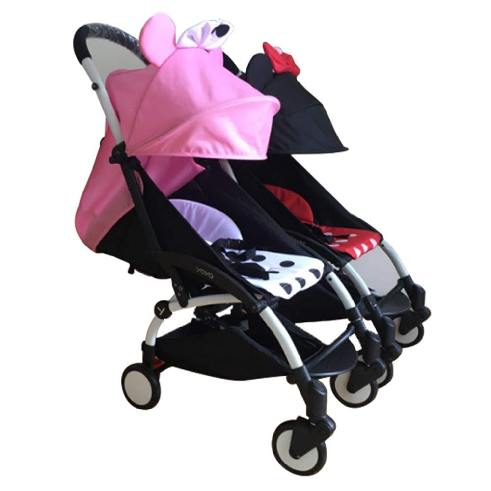 Stroller Connectors, Turn 2 Strollers into an Instant Tandem Stroller, Fits Most Strollers by ROMIRUS (Image #9)