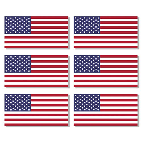 (6 Pack USA American Flag Vinyl Decal Army Navy Tactical Military Country Weather-Resistant Bumper Stickers for Laptop, PC, Phone, Tablet, Baret, Helmet, Hat, Umbrella (1