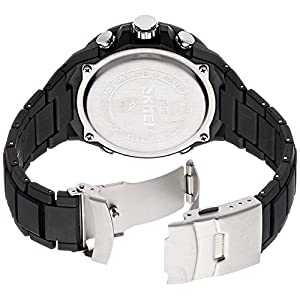 SKMEI Analog-Digital Black Dial Men's Watch- AD1016